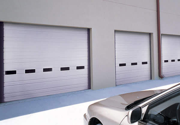 ribbed panel commercial door