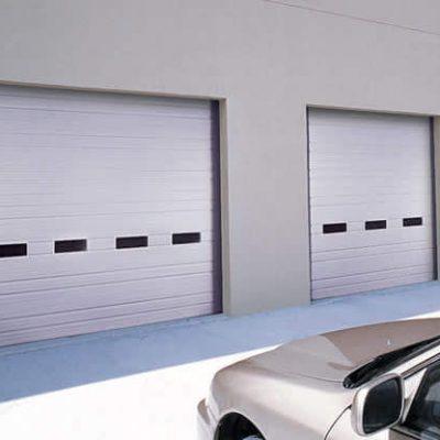 ribbed panel commercial door